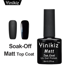 Yinikiz 2017 Top Base Coat Black Color Matte Shiny UV LED Soak Off Gel Polish Set Frosted Surface Matt Top Coat Gel