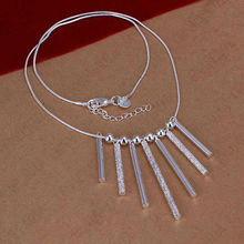 Factory Wholesale Sales ORNAPEADIA Brand New Hot Cheap Fashion Geometric patterns Necklace 925 Plated Silver Necklace For Lady