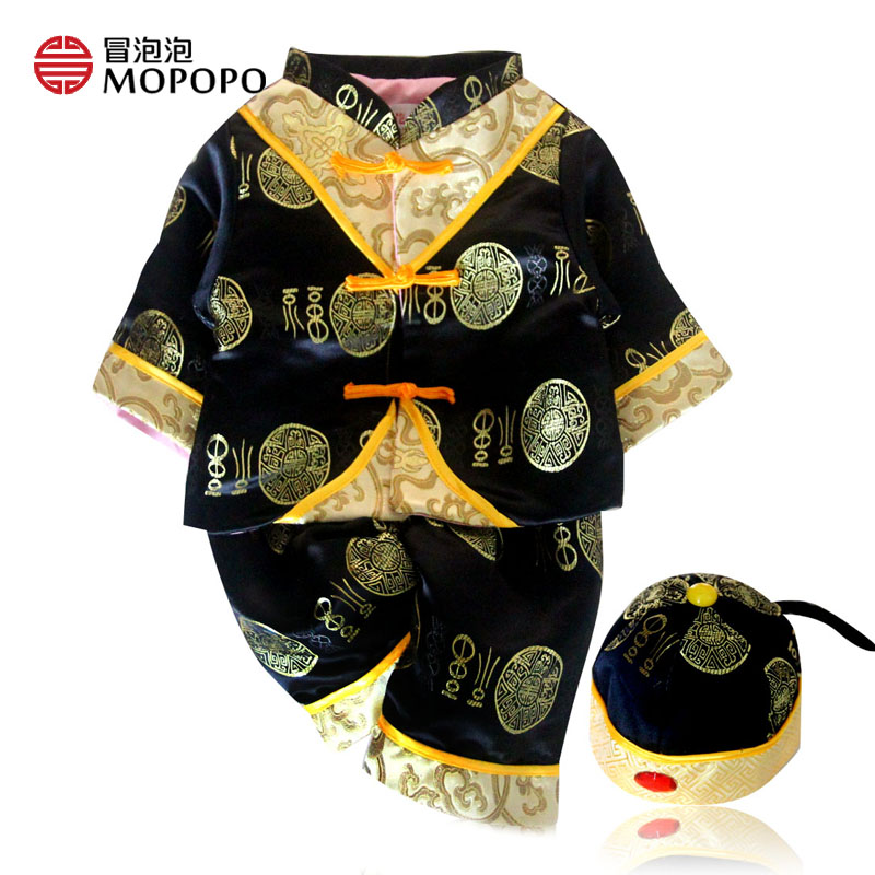 Chinese Style Tang 2017 New Spring Baby Boy Clothes Set Cotton Clothing Autumn Baby Boy Clothing Set Long Sleeved 3pcs With Hat<br><br>Aliexpress