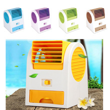 Glantop NEW Hot Portable USB Mini Small Fan Cooling Desktop USB battery two way power Bladeless fan Air Conditioner(China)