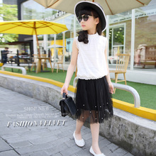 Children's Garment Girl Summer Wear Children Suit Child Skirt 2 Pieces Kids Clothing Sets