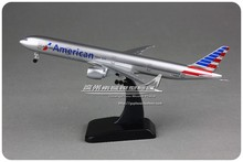 Brand New 1/400 Scale Airplane Model Toys American Airlines Boeing B777-300ER 19CM Diecast Metal Plane Model Toy For Gift