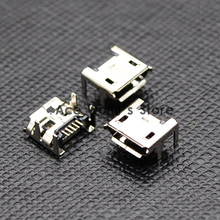10pcs Micro USB Connector Jack Female Type 5Pin SMT Tail Charging socket PCB Board (NO.12)