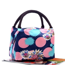 Fashion Casual Floral Design Women Mommy Lunch Bag High Quality Canvas Handbag Portable Top-handle Small Shopping Bag(China)