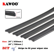 "KAWOO Auto Car Rubber Vehicle Insert Strips Wiper Blade Blades (Refill) 6mm Soft 26""&28"" 2pcs/lot Car Accessories Car-styling(China)"