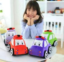 1pc 23cm 4 Colors 2016 New Creative Plush Toy Car Doll Soft Stuffed Plush Toys Doll Baby Toy for Kids Gifts Party Toys(China)