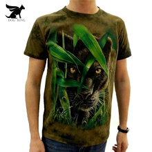 DOG KING Cool men's 3d T-shirt Animal Printed Tie Dye T Shirt 100% Cotton Short Sleeve fitness Hip Hop O-Neck Tee-shirt homme