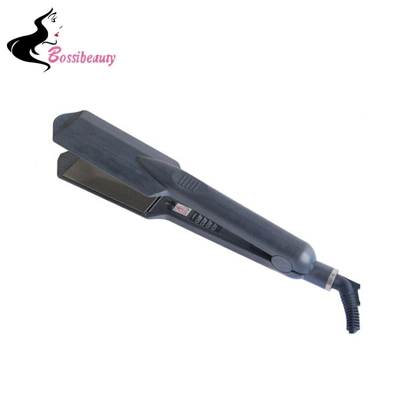 Flat Iron Digital Temperature Control Straightening Irons Ceramic Hair Straightener<br>