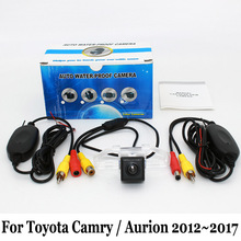 Auto Rearview Camera For Toyota Camry / Aurion (XV50) 2012~2017 / RCA AUX Wire Or Wireless / HD Night Vision Car Parking Camera