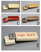 wholesales price wooden 8GB usb 2.0 flash drive pen drive disk Customized print logo (big order free logo )