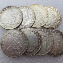United States Coins 8pcs/lot 1831-1838 Capped Bust Quarter Dollar ( NO SCROLL ON REVERSE ) Copy Coin Free Shipping