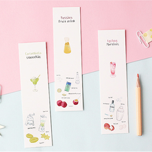 30 Pcs/pack Cute Card Lover summer cold drink paper Card Bookmark memo card(China)