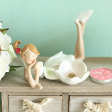 Resin Beautiful Fairy Angel Candle Holders Handmade Candlestick Home Wedding Decoration Crafts Gifts 8*8*13.5cm