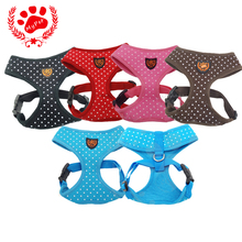 My Pet 2017 Summer New Brand Pets Dog Clothes Ropa Para Perros Dotty Print Air Mesh Dog Harness Vest for small dog VP-HCY1016