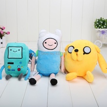 3pcs/lot Cartoon Toy Anime Adventure Time Finn Jake Beemo BMO soft figure plush doll(China)