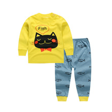 baby bebes boys clothes set jacket+pants boy girl clothing infant Autumn Spring children suits Yellow baby boys sets 9M12M3T4T6T(China)