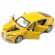 Kids cheap toys 1/32 Bugatti Veyron 16C Galibier Diecast Metal Model Cars Alloy Electronic Car Toys Christmas Gift For Boys(China)