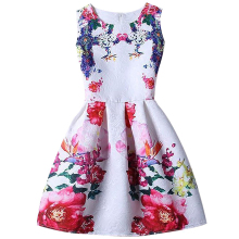 New Flower Princess Girl Dress For Girl Dresses Summer 2017 Kids Clothes Children Clothing Casual dress Girls Vestido Infantis