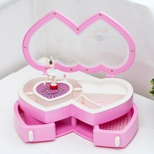 Girl Music Jewelry Storage Box Portable Ballet Dance Make up Box Fashion Childrens Gift for Christmas Gift Best Desk Decor(China)