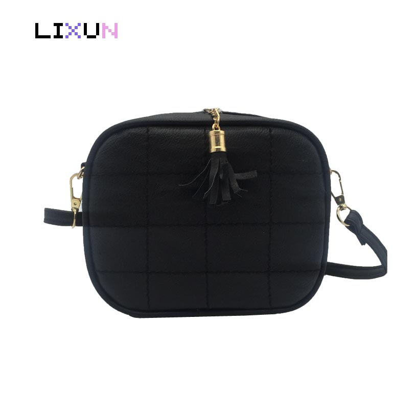 Women Casual Mini Thread Messenger Bags Cute Simple Ladies Clutches PU Leather Female Gilrs Small Tassel Crossbody Shoulder Bag