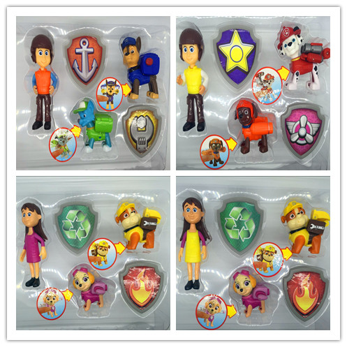 Cartoon characters, dog patrol, master, badge, dog, complete set, gift packaging, childrens gifts<br><br>Aliexpress