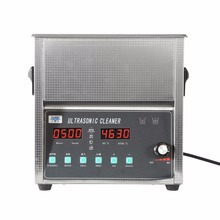 Industry Heated Ultrasonic Cleaner DIGITAL STAINLESS ULTRASONIC CLEANER ULTRA SONIC BATH CLEANING TIMER HEATE 10L(China)