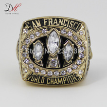CR-20464 cheap championship rings 1988 San Francisco 49ers championship ring with crystal Replica Ring(China)