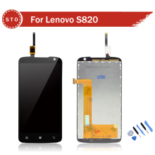 100% Guarantee Original Replacement LCD Display Screen With Touch Digitizer Assembly Complete For Lenovo S820