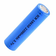 3.7V 18650 Lithium Battery 2200mah Large Capacity Rechargeable Battery Lithium Li-ion ICR Battery for Flashlight Headlamp