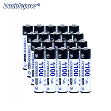 Original Doublepow AAA Rechargeable Battery DP-AAA1100mAh 1.2V Ni-MH Battery 1100mAh VS PKCELL AAA Battery 20pcs/lot D013