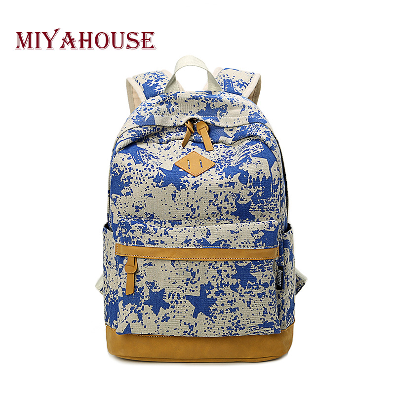 Miyahouse Preppy School Bags Backpacks For Teenage Girls Cute Canvas Star Printing Women Backpack Bag Female escolar mochila<br><br>Aliexpress