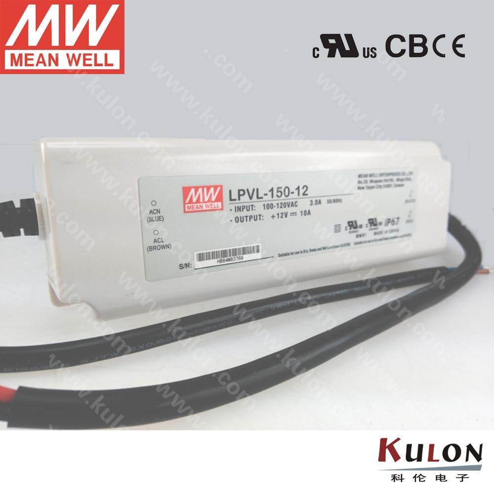 Original Meanwell 150W 24V Power Supply LPVL-150-24 for LED light IP67 UL FCC EMC 2 years warranty<br>