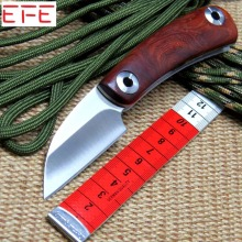 EFE mini D2 blade Natural yellow rosewood+420 steel handle folding knife camping Hunting Survival Tactical knives EDC Tool MMMMM(China)
