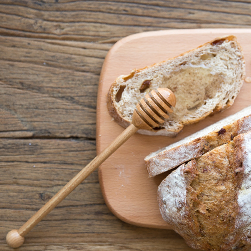 Wooden Honey Spoon Long Handle Beech Wood Honey Dipper Stick Wood Honey Coffee Bar Mixing Spoon Kitchen Utensils Tea Accessories (3)