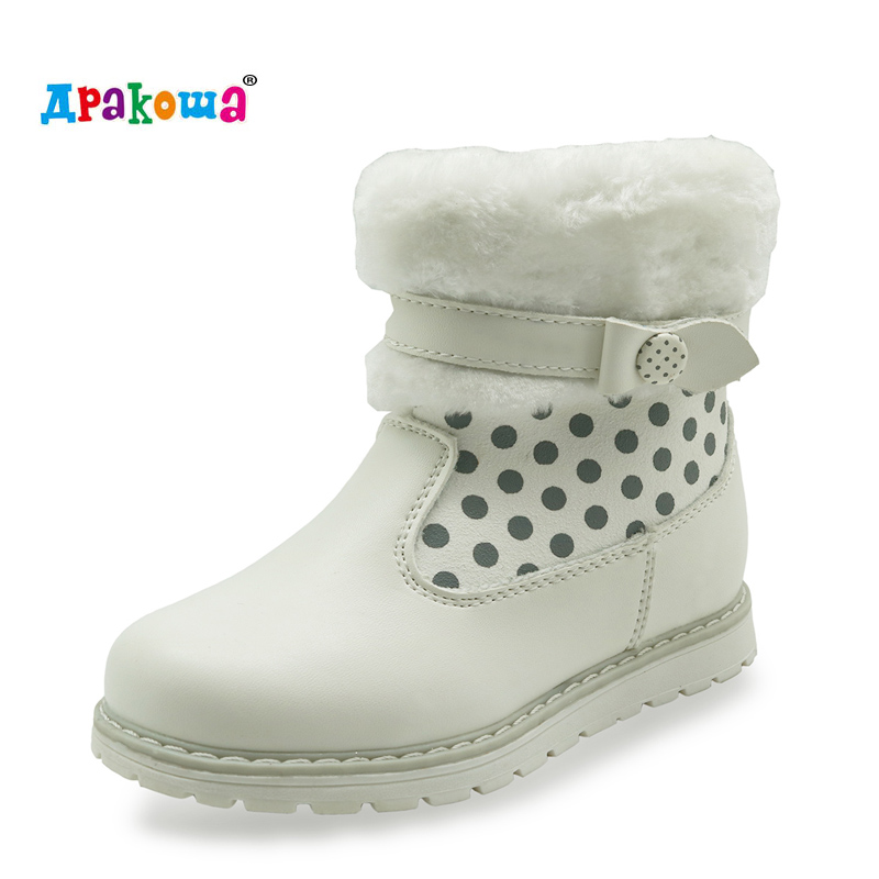 CNOHEHOK fashion kids girls ankle zipper snow boots butterfly waterproof warm winter shoes woolen lining toddler boots for girls(China (Mainland))