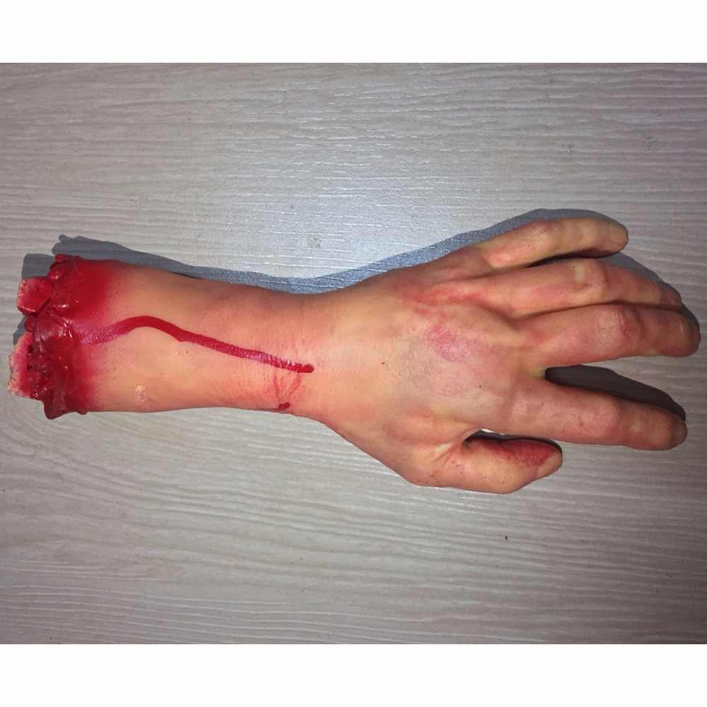 Hot Sale Halloween Horror Party DIY Props Bloody Hand Haunted House Party Decoration Scary Hand Finger Leg Foot Brain Heart