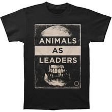 2017 Sale Fashion Broadcloth Cotton Tee4u Shirts Trend Clothing Men's Short Sleeve Top O-neck Animals As Leaders Skull T Shirt