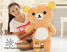 60cm Kawaii big brown japanese style rilakkuma plush toy teddy bear stuffed animal doll ,Kids Rilakkuma Bear Christmas Gift