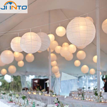 20pcs/lot white Chinese paper lantern lamps round wedding paper lantern freeshipping(China)