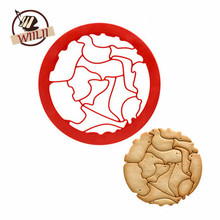 1PCS Plastic 15 Kinds Animal Patterns Round Shaped Cookie Cutter Mould For Cupcake Dessert Mini Truffle Cake Decorating Tools