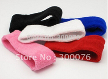 Cotton Headbands Sweatband  Exercise  headband assorted colors DHL free shipping