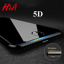 Buy H&A 5D Full Cover Edge Tempered Glass iPhone 7 8 6 Plus Screen Protector iPhone 6 6s 7 Plus Film Protection Glass for $2.91 in AliExpress store