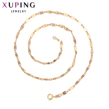 11.11 Xuping Fashion Necklace New Design Big Long Necklace Gold Color Plated Necklace Women Chain Jewelry Top Sale Gift 42746(China)