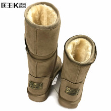 2017 Women Boots Warm Australia Classic Snow Winter Boots Women Artificia Suede Leather Botas Snow Boots bota feminina Plus Size(China)