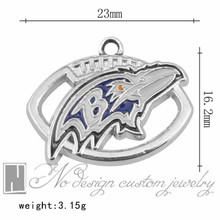 Baltimore American football team ravens Tibetan Silver Charms Dangle Metal Alloy Charm fits Pendants for jewelry making(China)