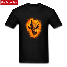 2017 Original Funny Men Fire Mask T shirt Short Sleeve Round Neck Soft Cotton ichigo bleach T-shirts 3XL Custom Tshirts(China)