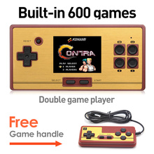 Hot Sale 2.6 Inch Retro Handheld Game Console Portable video Game Console Classic Free 600 Games Free Game Handles Gift for kid(China)