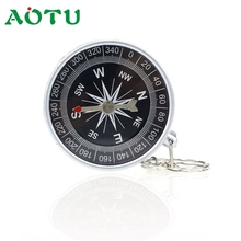 Aotu Keychain Outdoor Camping Plastic Compass Hiking Hiker Navigation  Camping & Hiking compass