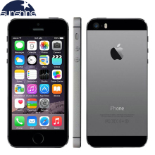 "Original Unlocked Apple iPhone 5S LTE Smartphone Dual Core 4"" IOS IPS Used Phone 8MP GPS Fingerprint Mobile Phone(China)"