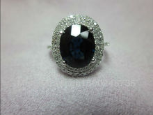 1.66ct Solid 14k White Gold Natural Deep Blue Sapphire Ring